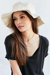 Urban Outfitters Washed Canvas Sun Hat Ivory