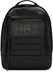 Hood By Air Black Leather Moma Backpack