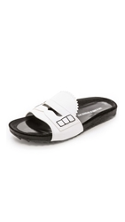 Band Of Outsiders Loafer Slide Sandals Ivory