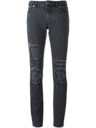 Givenchy Distressed Effect Jeans Black