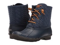 Sperry Saltwater Rope Emboss Neoprene Navy Women's Lace Up Boots
