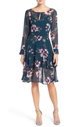 Cupcakes And Cashmere Women's 'Makana' Floral Print Fit Flare Dress