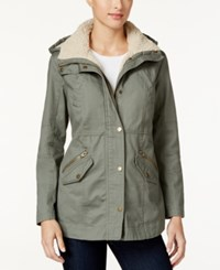 Styleandco. Style Co. Sherpa Collar Anorak Jacket Only At Macy's Sage