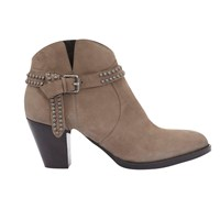 Mint Velvet Ava Block Heeled Ankle Boots Taupe