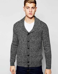 New Look Shawl Neck Knitted Cardigan In Charcoal