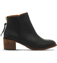 Office Inventive Leather Ankle Boots Black Leather