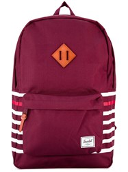 Herschel Supply Co. Striped Detailing Backpack Red