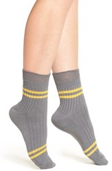 Urban Outfitters Women's Free People 'Windsor' Ankle Socks Grey Combo