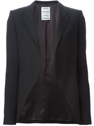Anthony Vaccarello Open Front Blazer Black