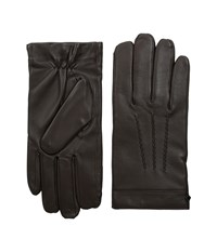 Cole Haan Spliced Leather Glove Brown Over Mits Gloves