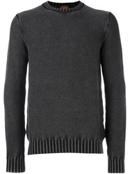 Tod's Textured Knit Jumper Grey