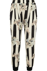 Suno Printed Stretch Jersey Tapered Pants Black