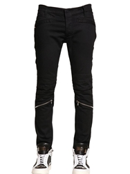 John Richmond 16Cm Skinny Stretch Denim Biker Jeans Black