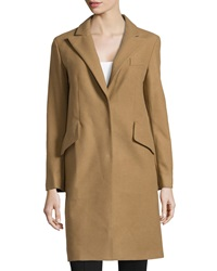 Philosophy Di Alberta Ferretti Wool Blend Long Overcoat Camel
