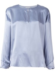 Forte Forte Satin Blouse Blue