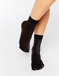 Jonathan Aston Glitz Anklet Sock Bronze Brown