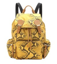 Burberry The Large Printed Fabric And Leather Backpack Yellow