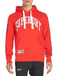 Superdry Graphic Logo Hoodie Red