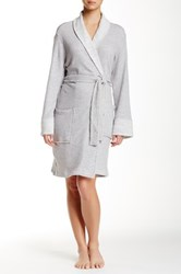 Natori Shawl Collar Wrap Gray