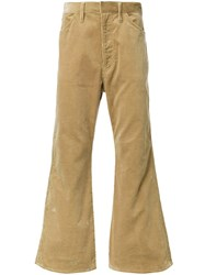 H Beauty And Youth. Flared Corduroy Trousers Brown