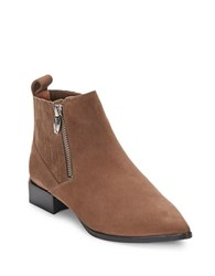 Sigerson Morrison Bambi Leather Point Toe Ankle Boots Light Brown