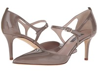 Sarah Jessica Parker Phoebe Rules Taupe Patent Women's Shoes Gold
