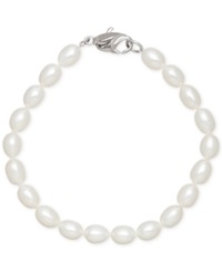 Honora Style Cultured Freshwater Pearl Bracelet In Sterling Silver 7 8Mm White