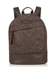Want Les Essentiels Kastrup Flecked Tweed Backpack Grey Multi