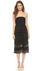 4.Collective Strapless Bohemian Lace Dress Black