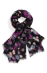 Nordstrom Women's Mystic Floral Cashmere And Silk Scarf