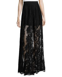 Alexis Lucrenzia High Waist Lace Maxi Skirt Black