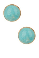 Janna Conner Charmaine Chinese Turquoise Stud Earrings No Color