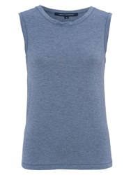 French Connection Marley Jersey Tank Top Blue Grey Marl