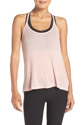 Zella Women's 'Back Into It' Racerback Tank Pink Pudding Heather