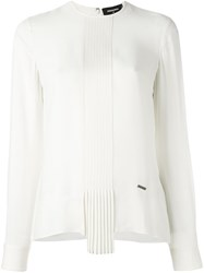 Dsquared2 Ruched Scarf Detail Blouse White