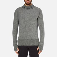 Oliver Spencer Men's Bamako Roll Neck Jumper Navy Multi