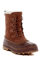Sorel Caribou Fleece Lined Waterproof Boot Beige