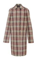 Derek Lam Plaid Collared Trench Coat