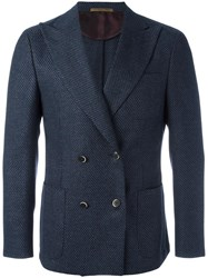 Corneliani Double Breasted Blazer Blue