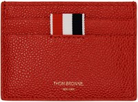 Thom Browne Red Leather Card Holder