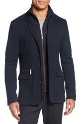 Ted Baker Men's London 'Dom' Extra Trim Fit Jersey Blazer With Removable Bib Navy