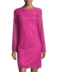 Neiman Marcus V Back Lace Dress Pink