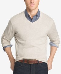 Izod Men's Big And Tall V Neck Sweater Rock Heather