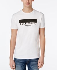 Kenneth Cole Reaction Men's Graphic Print T Shirt White