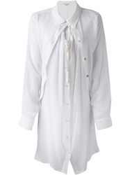 Ann Demeulemeester Blanche Layered Button Up Tunic White
