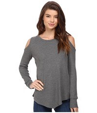 Lna Meridian Long Sleeve Marengo Women's Clothing Gray