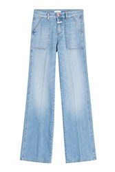 Closed Flared Leg Jeans Blue