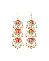 Chamak By Priya Kakkar Fan Style Tiered Drop Earrings