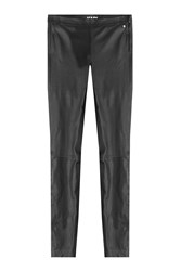 Karl Lagerfeld Skinny Leather Pants Black