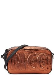 Mcq By Alexander Mcqueen Addicted Bronze Leather Cross Body Bag